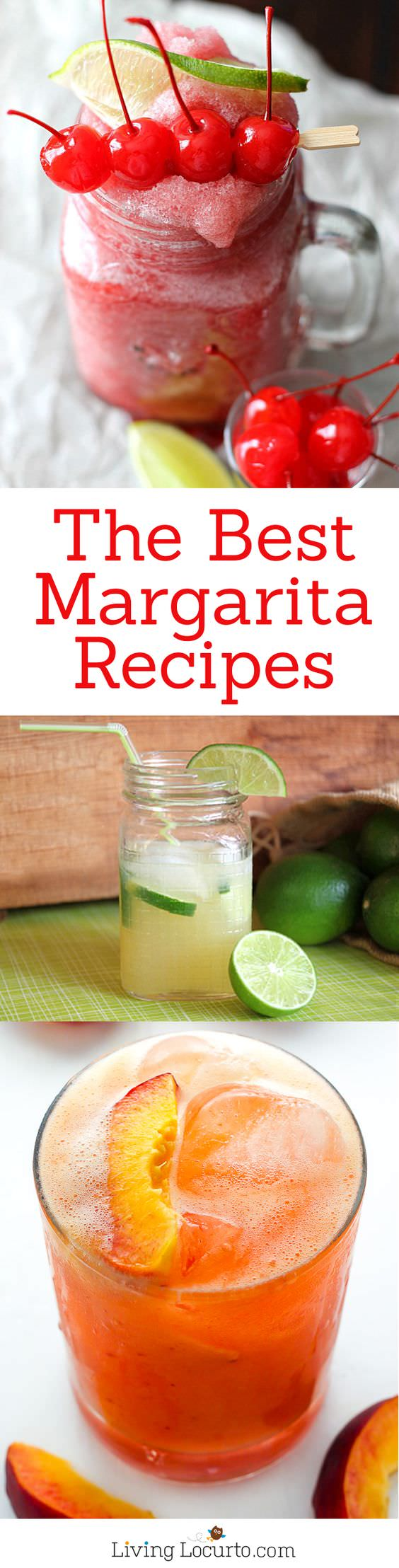 Some of the best Margarita Recipes ever and you'll love them this summer! From Strawberry and Blackberry to Pineapple and Coconut. Check out!
