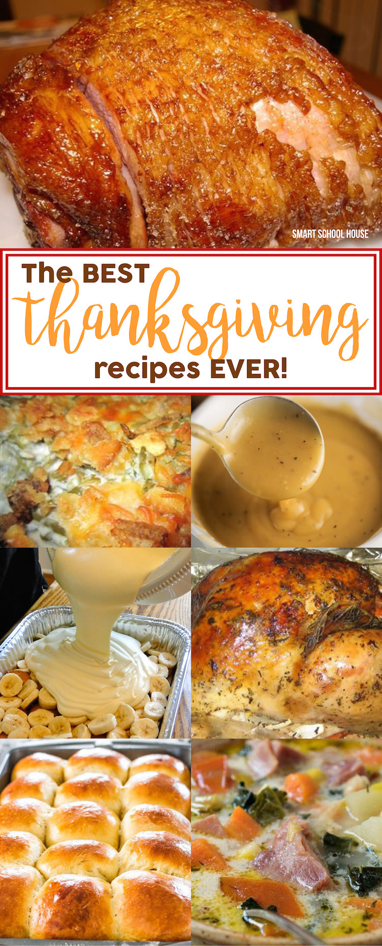 The BEST Thanksgiving Recipes EVER - turkey and stuffing, pumpkin pie, mashed potatoes, gravy, and tips to help you along the way.