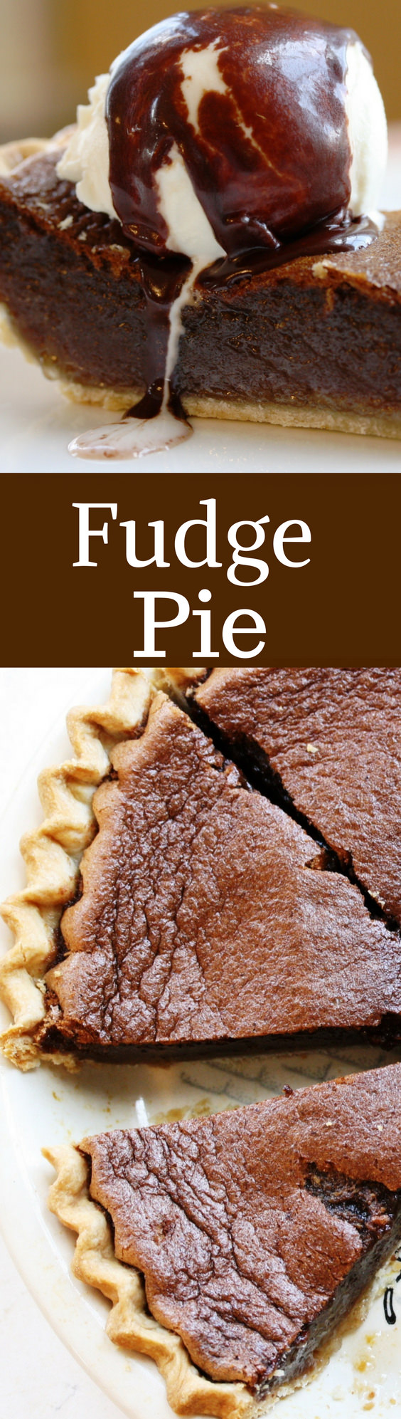 This amazing Fudge pie has a wonderful texture and light chocolate flavor with a filling similar to pecan pie without the pecans. Check out the recipe!