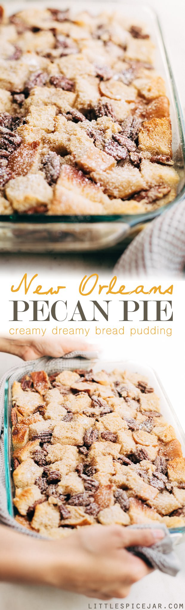 A perfect dessert to serve during the holidays with the gooey pecan pie filling and the tender custard-- It tastes delicious! Check out the recipe.