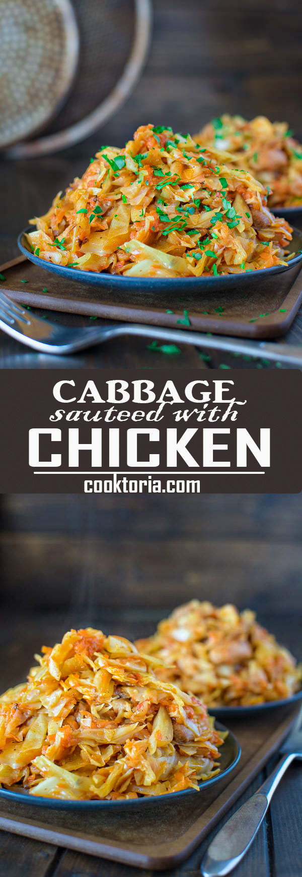 Succulent cabbage sauteed with tender chicken and vegetables. Just a few ingredients and about 15 minutes of active time make up this delicious dinner.