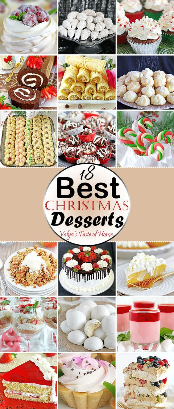 Get ready and plan your Christmas desserts before it's late, to make things easier. Here're 18 best Christmas dessert recipes to look at!