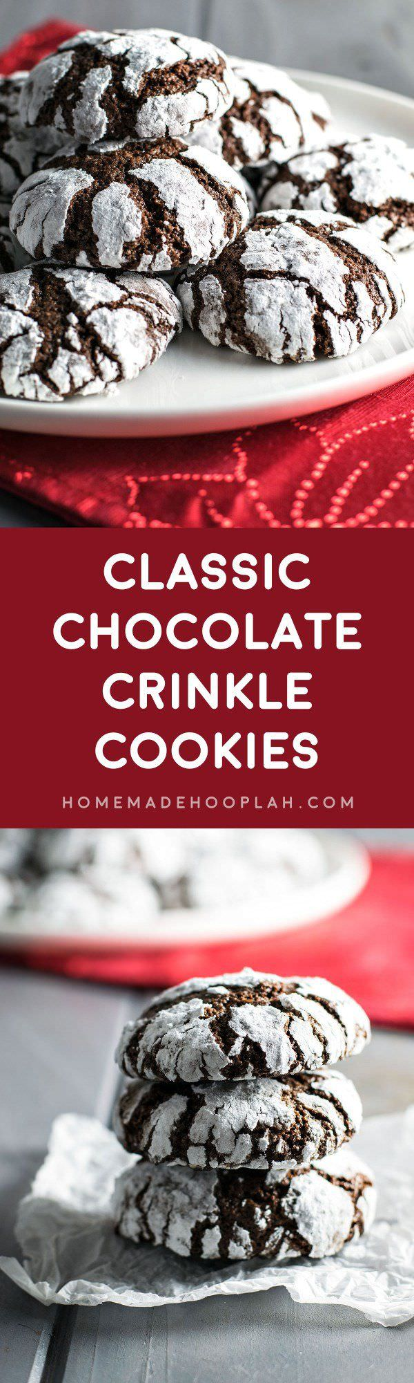 These chocolate crinkle cookies are classic and the perfect combination of a brownie and a cookie. Check out!