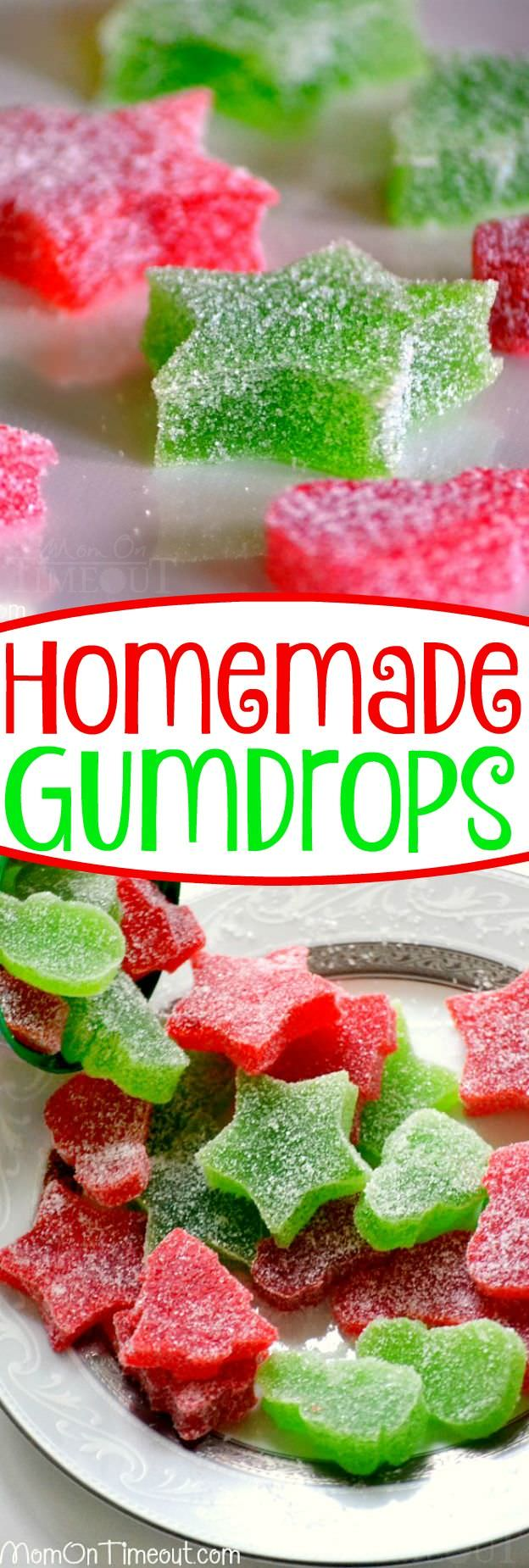 These Homemade Gumdrops are amazing! Made with just a few ingredients, these are sure to please you.