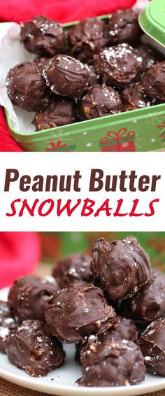This Peanut butter snowball is a no-bake recipe for holidays, the mouthwatering chocolate coating and slimy-smooth flavor of peanut butter inside makes it so special!