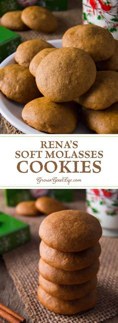 The warm flavors of cinnamon, cloves, ginger make these soft molasses cookies unique, a perfect recipe for holidays. Check out!