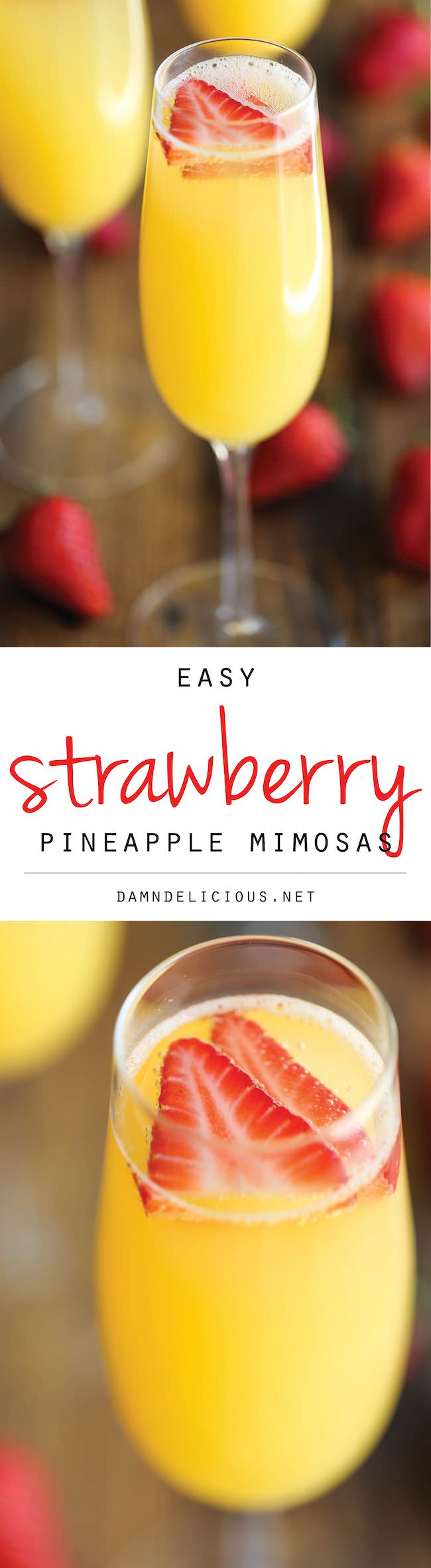 The easiest, quickest, and best 4-ingredient mimosa ever. And all you need is just 5 min to whip this up!