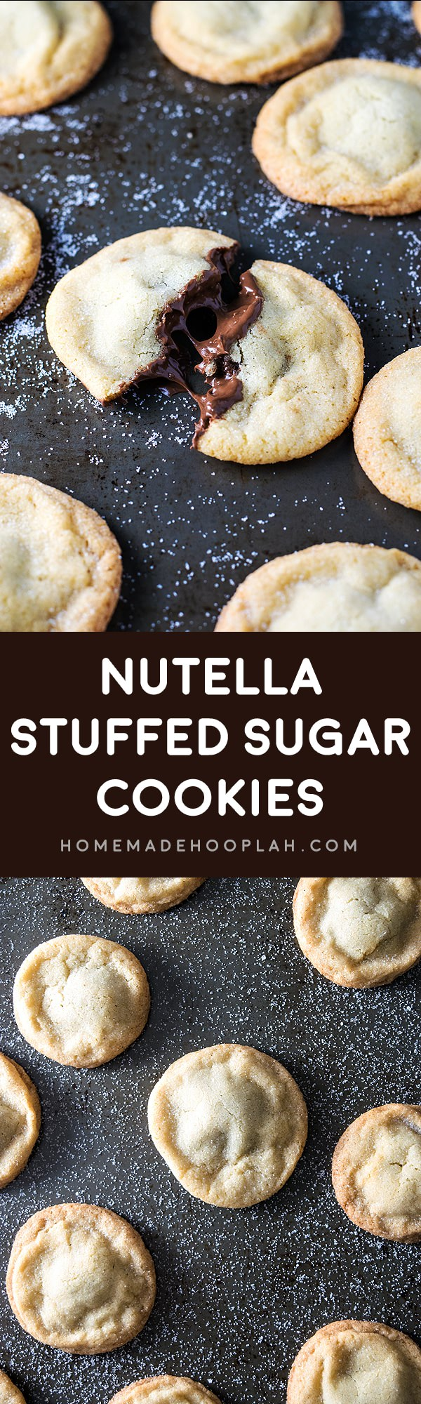 Old Fashioned Creamy Nutella stuffed in soft and chewy sugar cookies. These traditional sugar cookies are so delicious, worth to know the recipe!