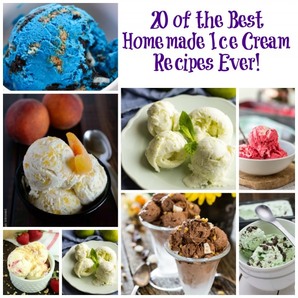Ice creams, don't you love them? Here're the 20 best HOMEMADE ICE CREAM recipes ever that you can prepare. Must check out!