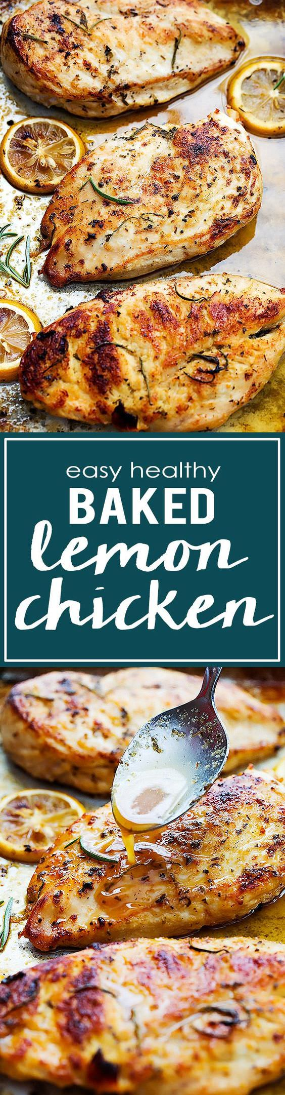 This baked lemon chicken is yummy and healthy. Easy to prepare that you can make it with just a few ingredients. Check out!