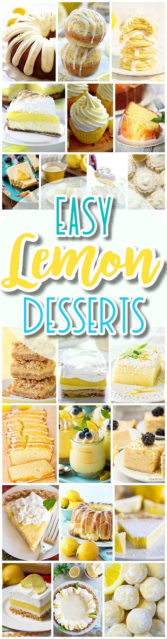 These delicious dessert RECIPES use LEMON as the main ingredient. Perfect for special days and occasions and easy to prepare!