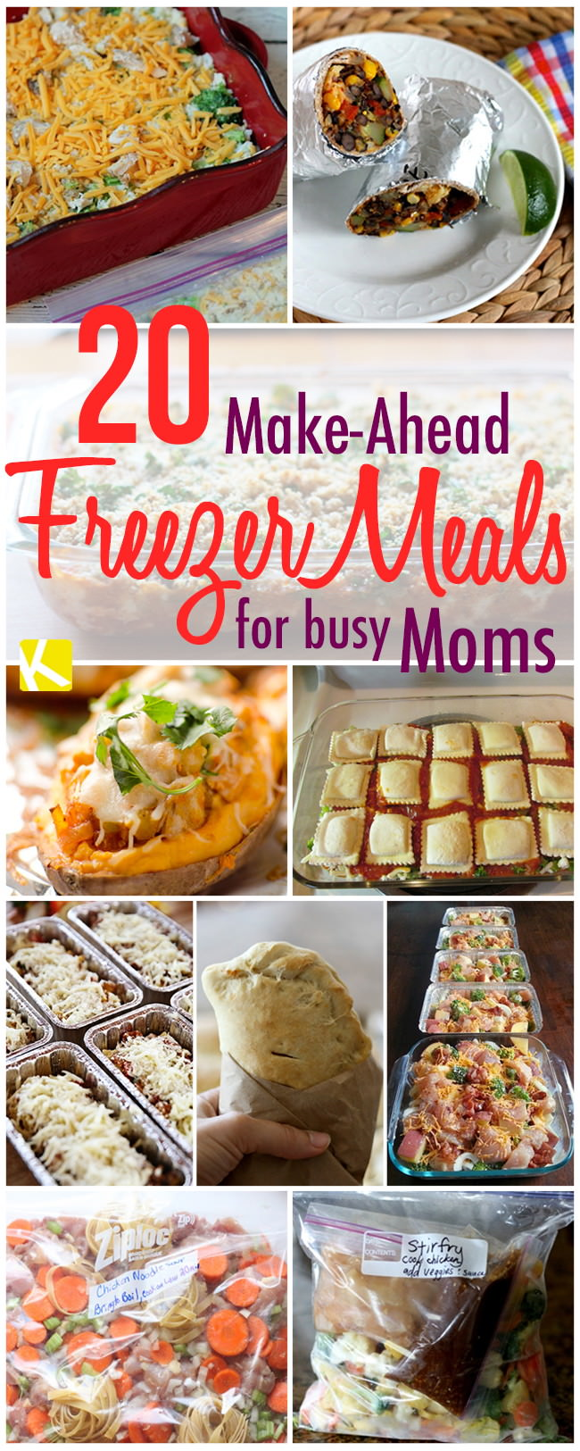 If you're a busy mom these freezer dinner recipes are perfect for you, they are delicious and you can keep them up to 4 months!