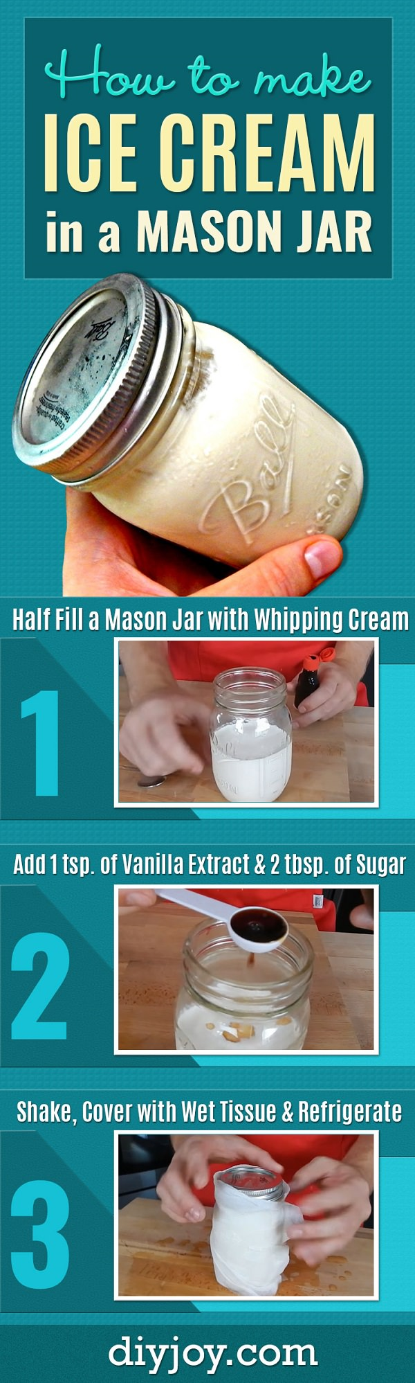 You can make an ice cream without the ice cream maker but it's difficult or maybe not? Try this mason jar trick. It's simple!