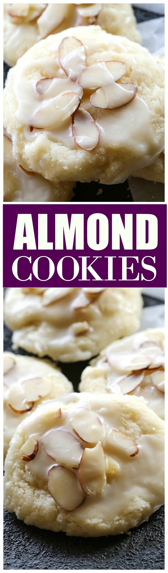 These Almond Cookies have a sweet almond glaze, so addicting that they melt in your mouth. Check out the recipe!