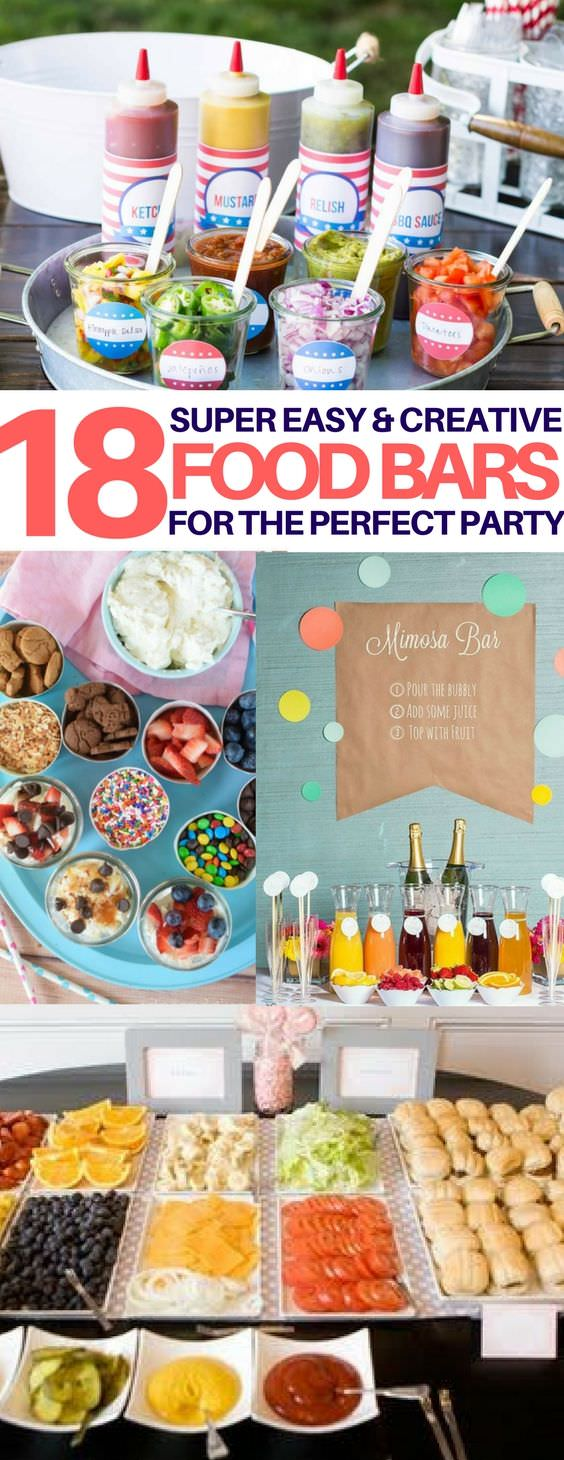 18 best food bar ideas perfect for your next party food for Food bar ideas for a party