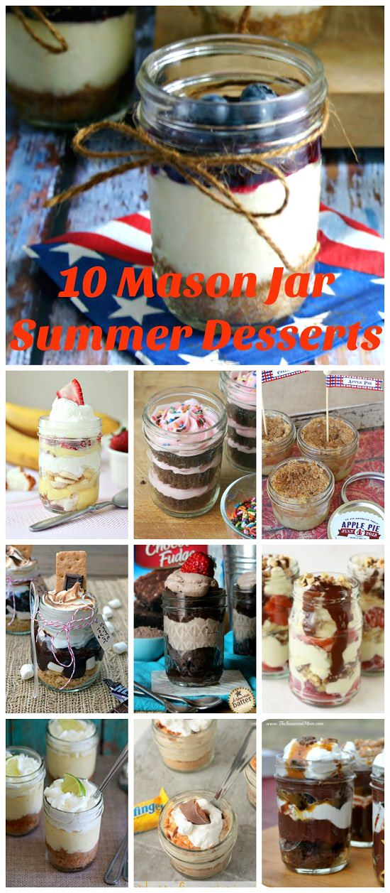 Put your mason jars to good use with these delicious Mason Jar Desserts that are great for a picnic or cookout.