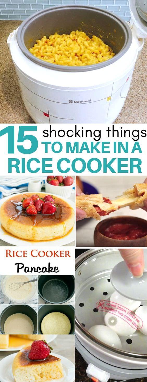 If you are using your rice cooker just for rice then you are missing out. Did you know you can make mac & cheese, jambalaya, pancakes, pasta and many tasty dishes in a rice cooker? Check out!