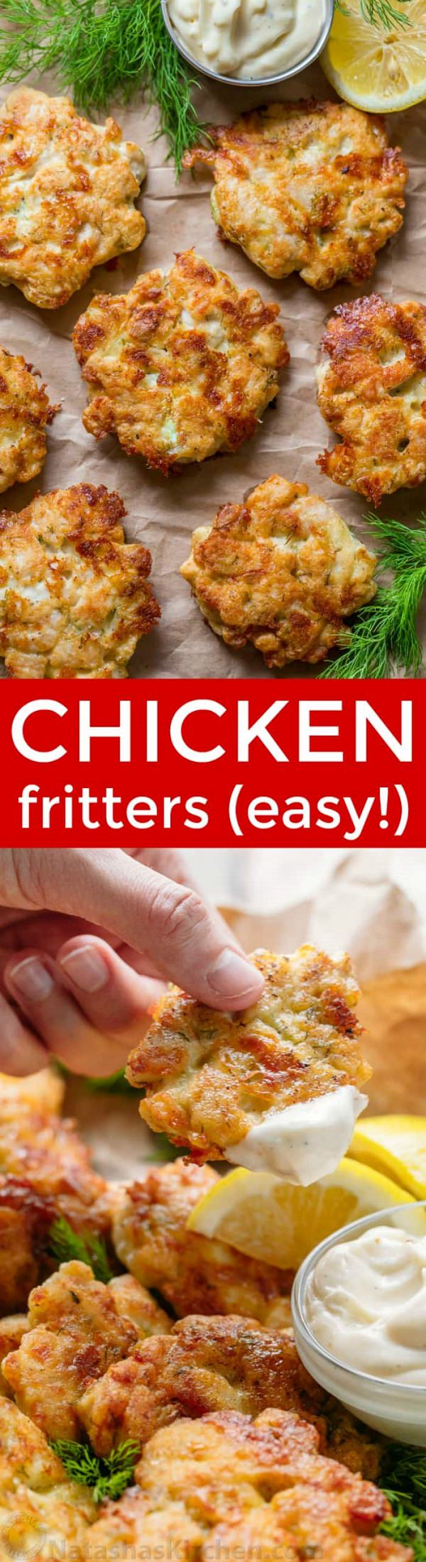 If you love easy chicken recipes, this is your recipe! Easy, juicy, flavorful cheesy chicken fritters! Check out!