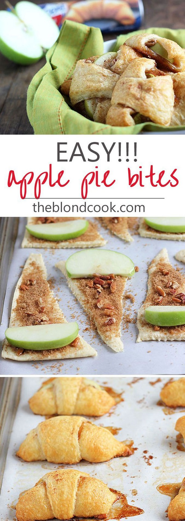 These incredibly delicious (and easy) Apple Pie Bites are going to be your go-to dessert in a hurry!