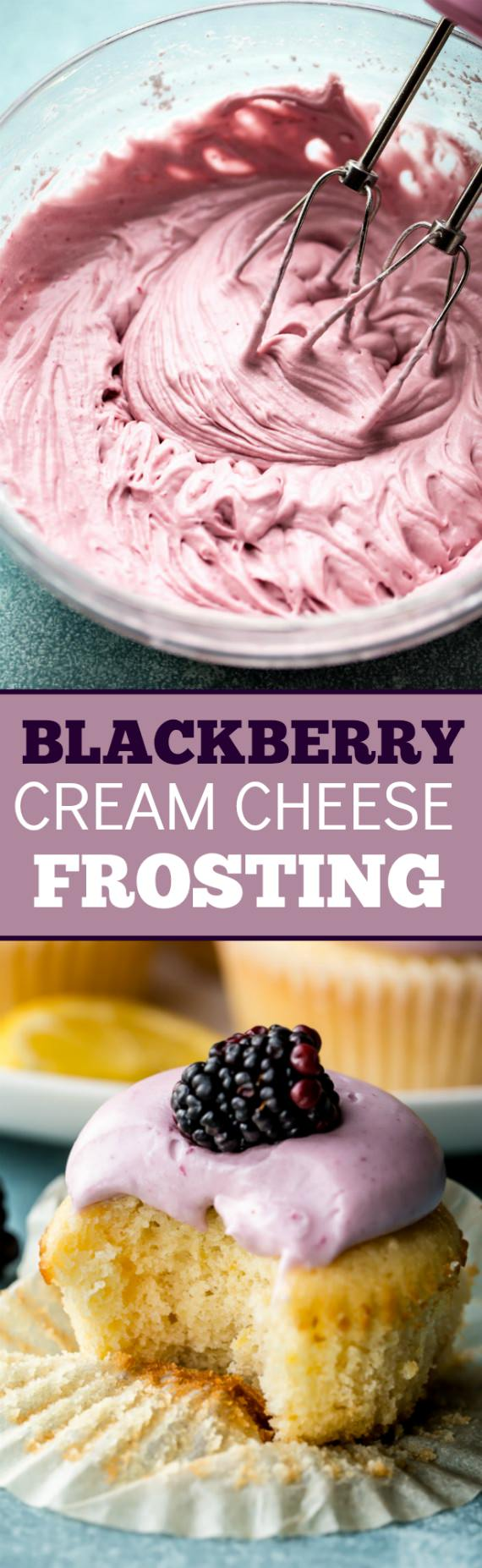 Everyone flipped for these soft and fluffy lemon cupcakes with blackberry cream cheese frosting. They're light, fluffy, and exploding with flavor!