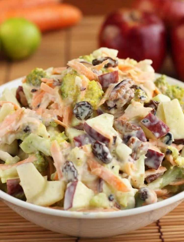 Apple Cranberry and Almond Coleslaw ⋆ Food Curation