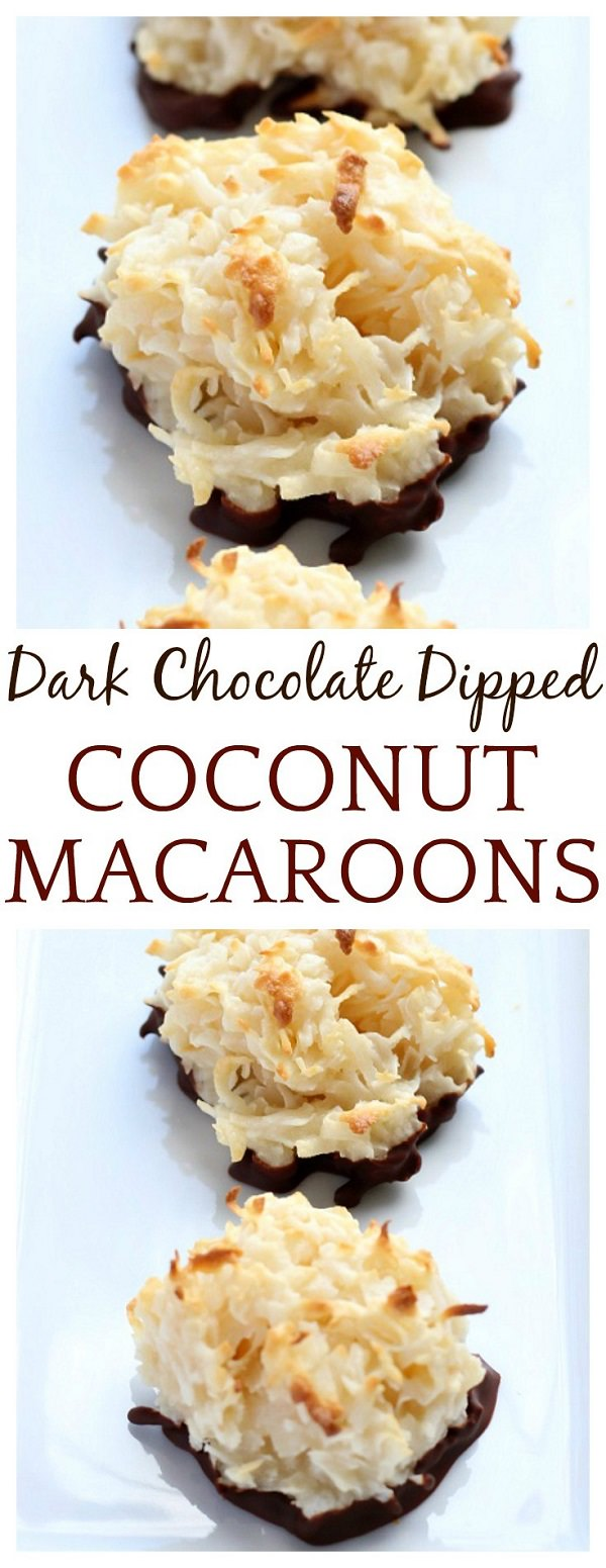 This Dark Chocolate Dipped Coconut Macaroons recipe is so simple, you will wonder why you didn't you tried making it sooner!
