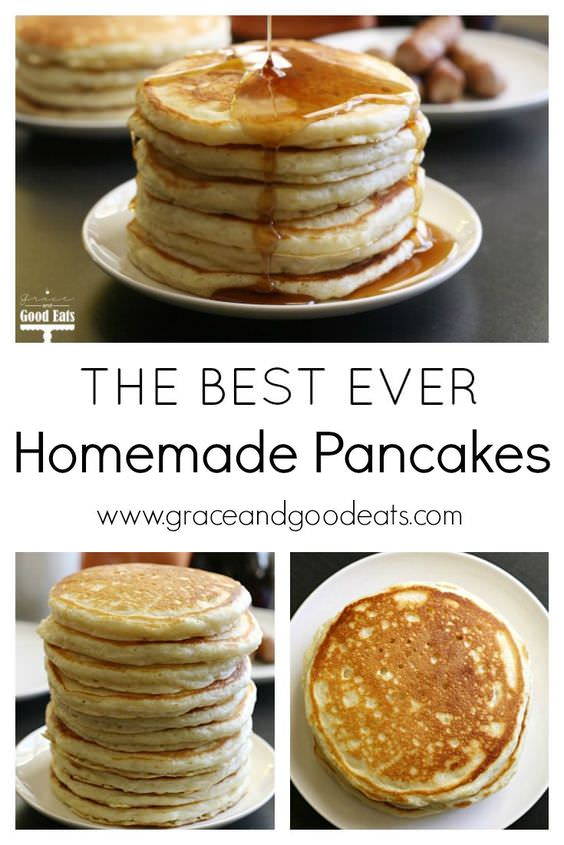 This is the BEST pancake recipe- we've tried a lot of recipes, and this is by far the best. Perfect pancakes from scratch every time.