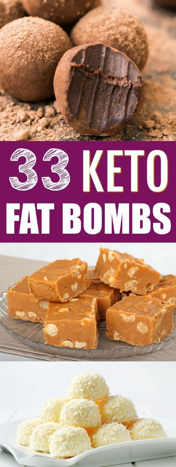 Keto dieters and low carb dieters rejoice—you have 33 new fat bombs to try thanks to this awesome round-up!