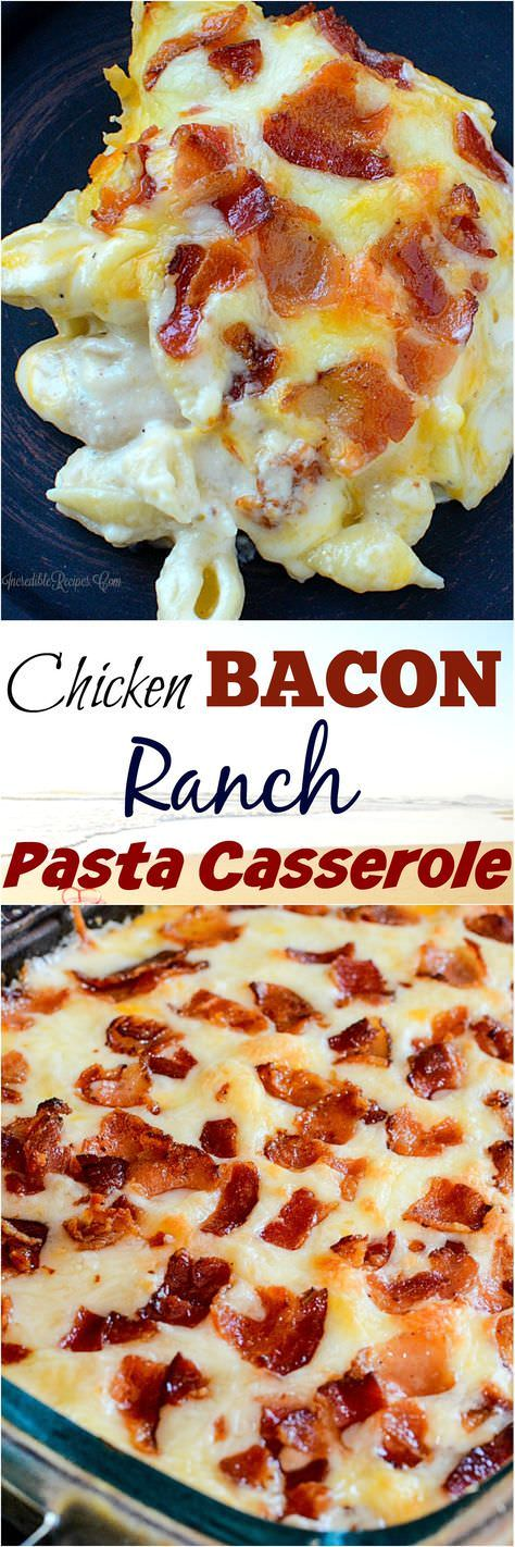Love with BACON and with PASTA. Put them together in an outstanding casserole.