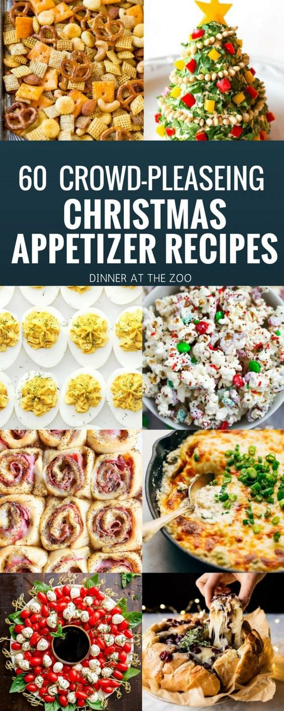 Sixty of the most amazing Christmas appetizer recipes, everything from dips to hot appetizers to cheese boards and more!