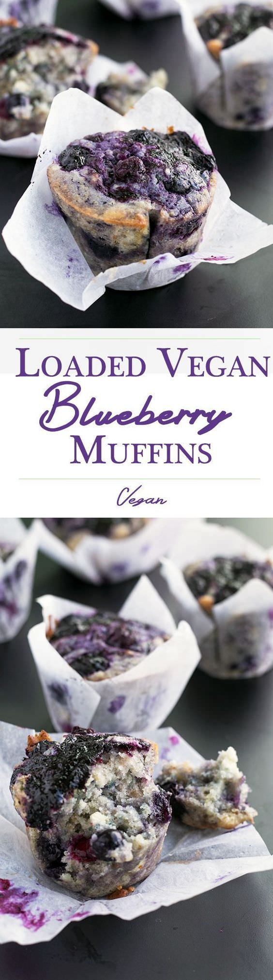 "Fully loaded Vegan Blueberry Muffins with a lemon zest topping and homemade Blueberry Jam Swirl.    I love the recipe for these Loaded Vegan Blueberry Muffins because it incorporates Blueberries in 3 different ways. The original recipe calls for a Blueberry Jam to be made and then swirled into Blueberry studded muffins. I go one extra step by incorporating Lorann Blueberry Emulsion Oil into the mix. You don't have to, but if you do, people will taste your muffins (giggle) and go ""Wow, these taste like Blueberry Muffins on Blueberry steroids!"". Always a good thing.  Prep Time: 15 min  Cook Time: 20 min  Total Time: 35 min  Ingredients  Lemon Sugar Topping:  1/3 cup Sugar 11/2 teaspoons finely grated zest from 1 Lemon Muffins:  1 cup Frozen Blueberries (for jam) 1 tablespoon Sugar 1/2 cup frozen Blueberries 1/2 cup fresh Blueberries 1 1/8 cup Sugar 2 1/2 cups All Purpose Flour 2 1/2 teaspoons baking powder 1 teaspoon Himalayan Pink Salt 2 Flax Eggs (see note) 1/4 cup melted Coconut Oil 1/3 cup Vegetable Oil 1 cup Almond Milk ""buttermilk"" (see note) 11/2 teaspoons Vanilla Extract Few drops of Lorann Blueberry Emulsion Oil Visit Crazy Vegan Kitchen to read the full post."