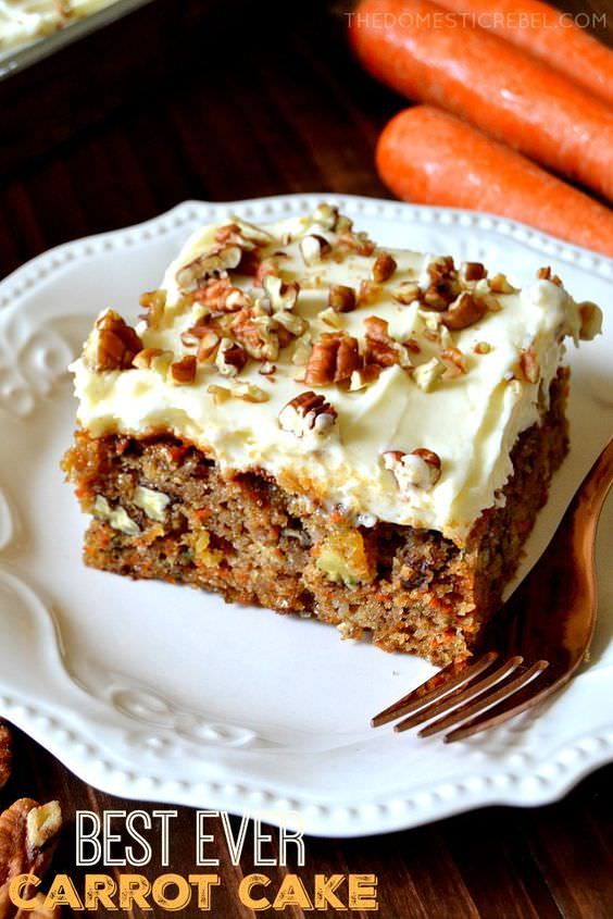 This carrot cake recipe truly is the BEST carrot cake I've ever had and converted me into becoming a carrot cake lover!