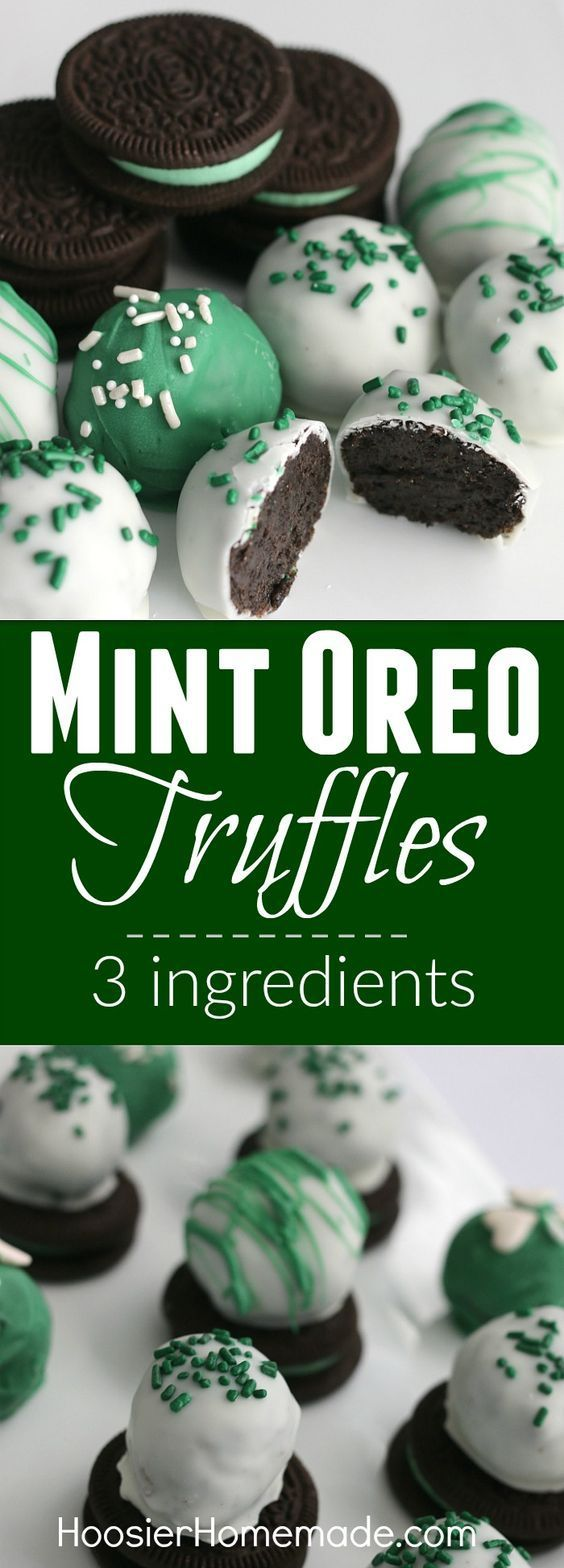 Everyone loves Oreos! And these Mint Oreo Truffles couldn't be easier and delicious. Just 3 simple ingredients is all you need.