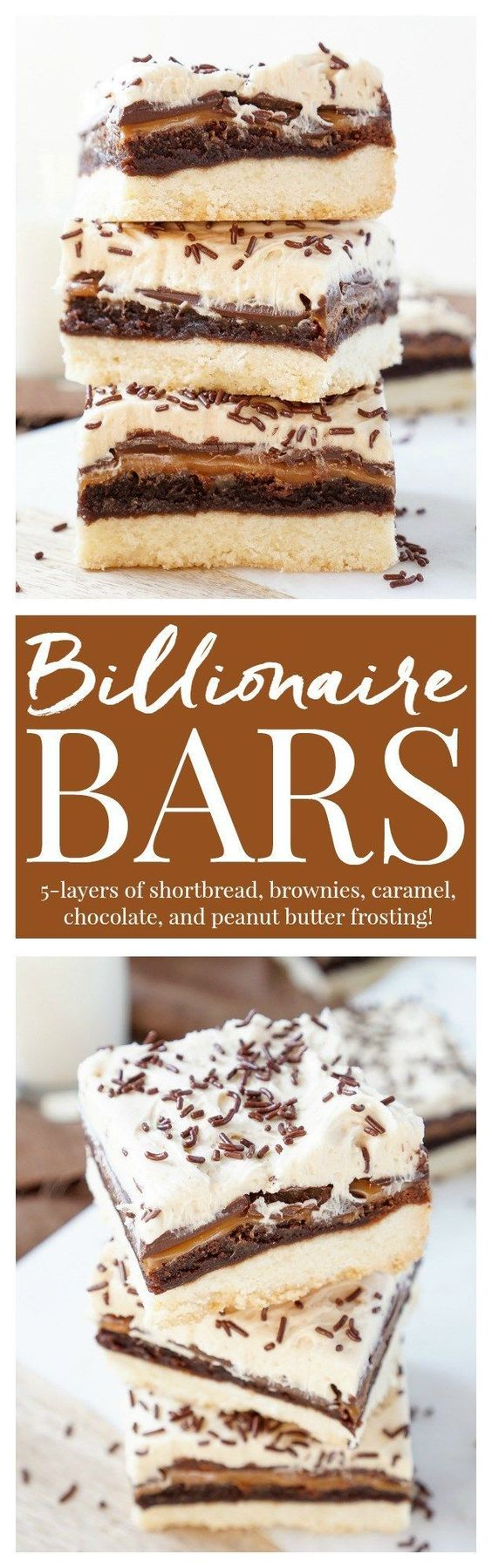 These Billionaire Bars are made with 5 glorious layers of RICH and DECADENT sugary favorites!